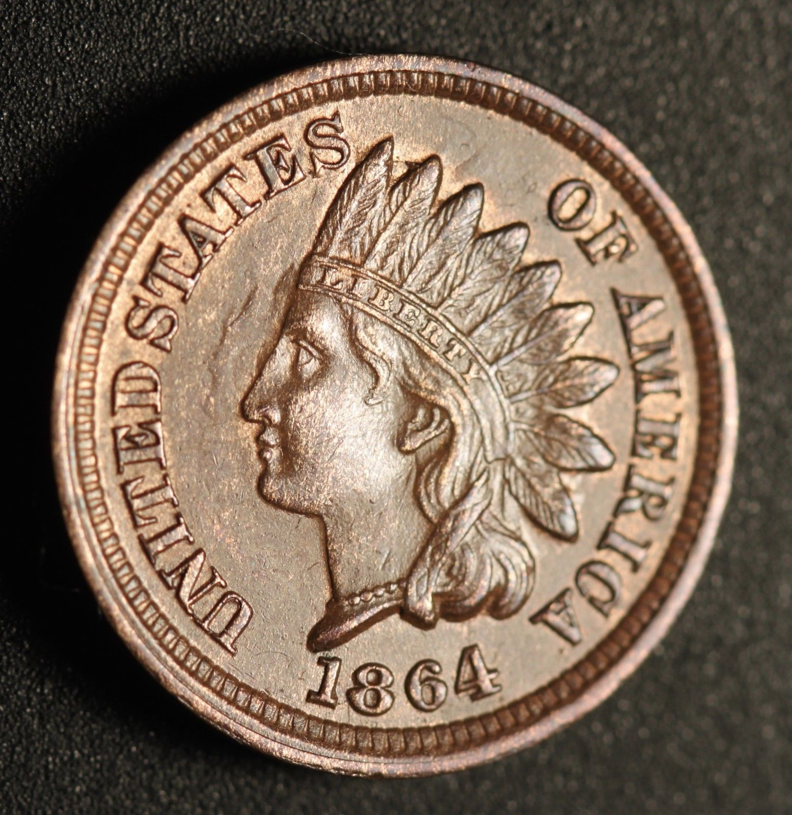1864 No-L RPD-006 - Indian Head Penny - Photo by Ed Nathanson