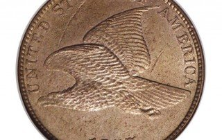 1857 Obverse of MDC-002 Flying Eagle Penny - Photo Courtesy of Heritage Auctions