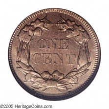 1857 MDC-002 Flying Eagle Penny - Photo Courtesy of Heritage Auctions