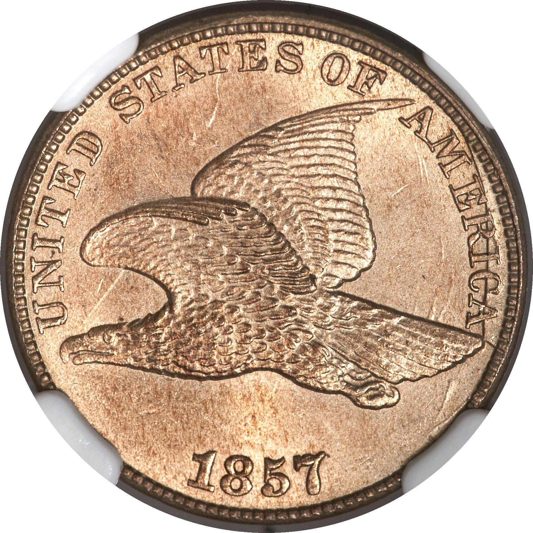 1857 MDC-003 Flying Eagle Penny - Photo Courtesy of Heritage Auctions