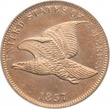 1857 RPD-002 Flying Eagle Penny - Photo Courtesy of Heritage Auctions
