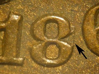 1865 Plain 5 MPD-001, RPD-003 - Indian Head Penny - Photo by David Poliquin