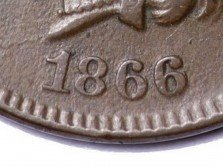 1866 RPD-008 - Indian Head Penny - Photo by David Poliquin
