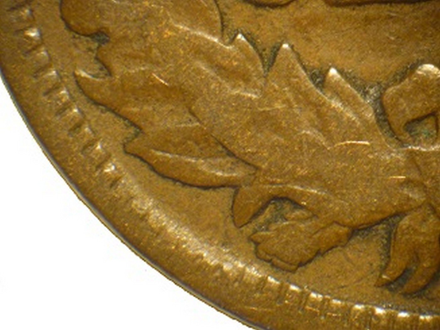 1866 Reverse of CUD-001 - Indian Head Penny - Photo by David Poliquin