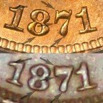 Counterfeit 1871 Indian Cent - Photo provided by Kurt Story