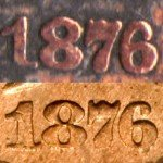 Counterfeit 1876 Indian Cent - Photo provided by Kurt Story