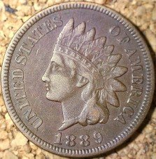 1889 RPD-017 - Indian Head Penny - Photo by David Killough