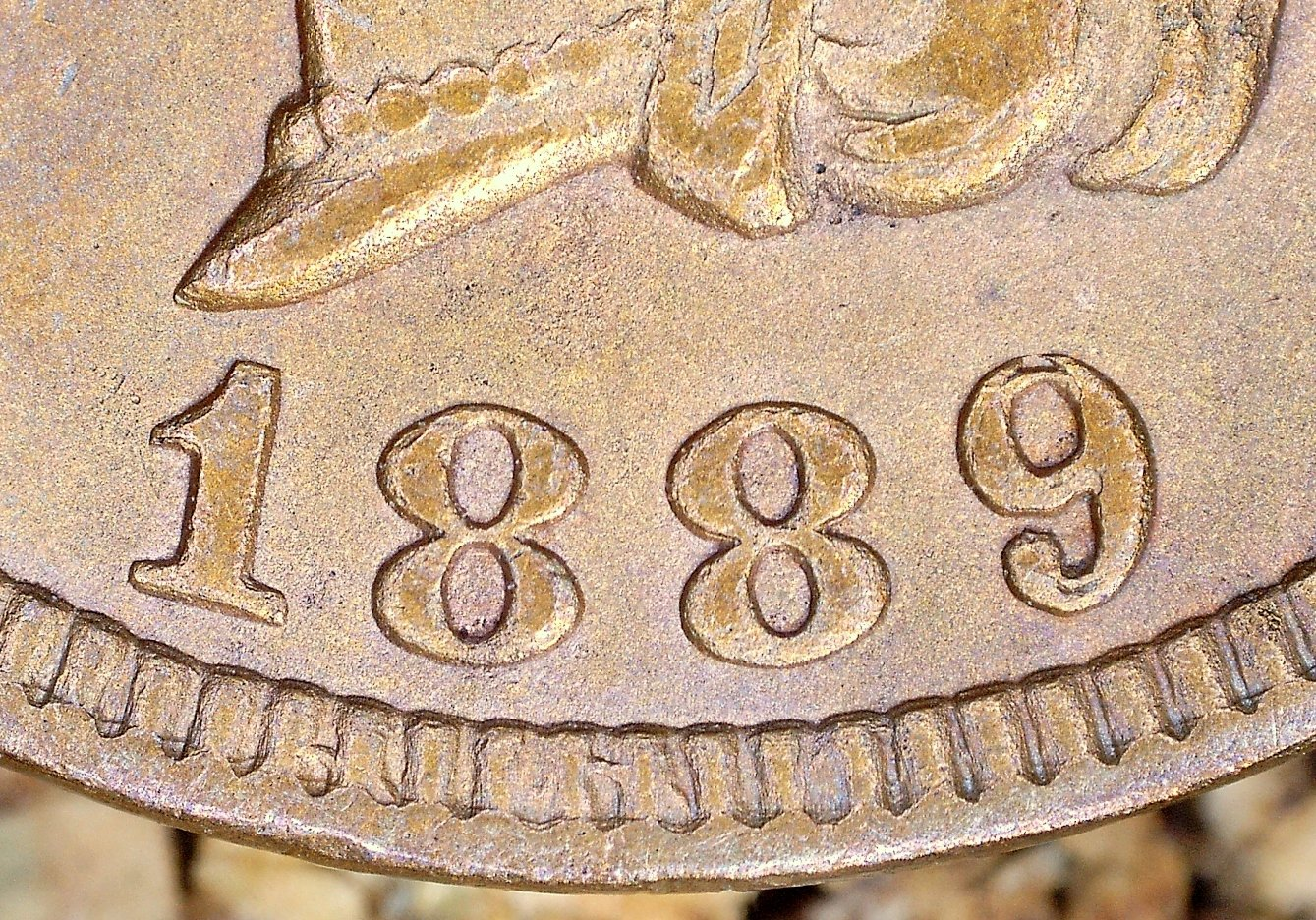 1889 MPD-001, RPD-008 - Indian Head Penny - Photo by David Killough