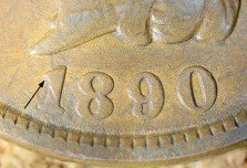 1890 RPD-004 - Indian Head Penny - Photo by David Killough