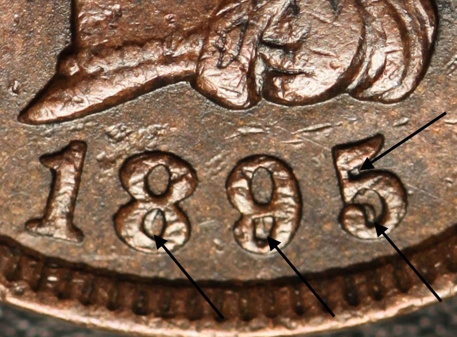 1895 RPD-003 - Indian Head Penny - Photo by Ed Nathanson