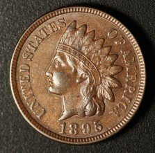 1895 RPD-012 - Indian Head Penny - Photo by Ed Nathanson