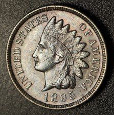 1895 RPD-020 - Indian Head Penny - Photo by Ed Nathanson