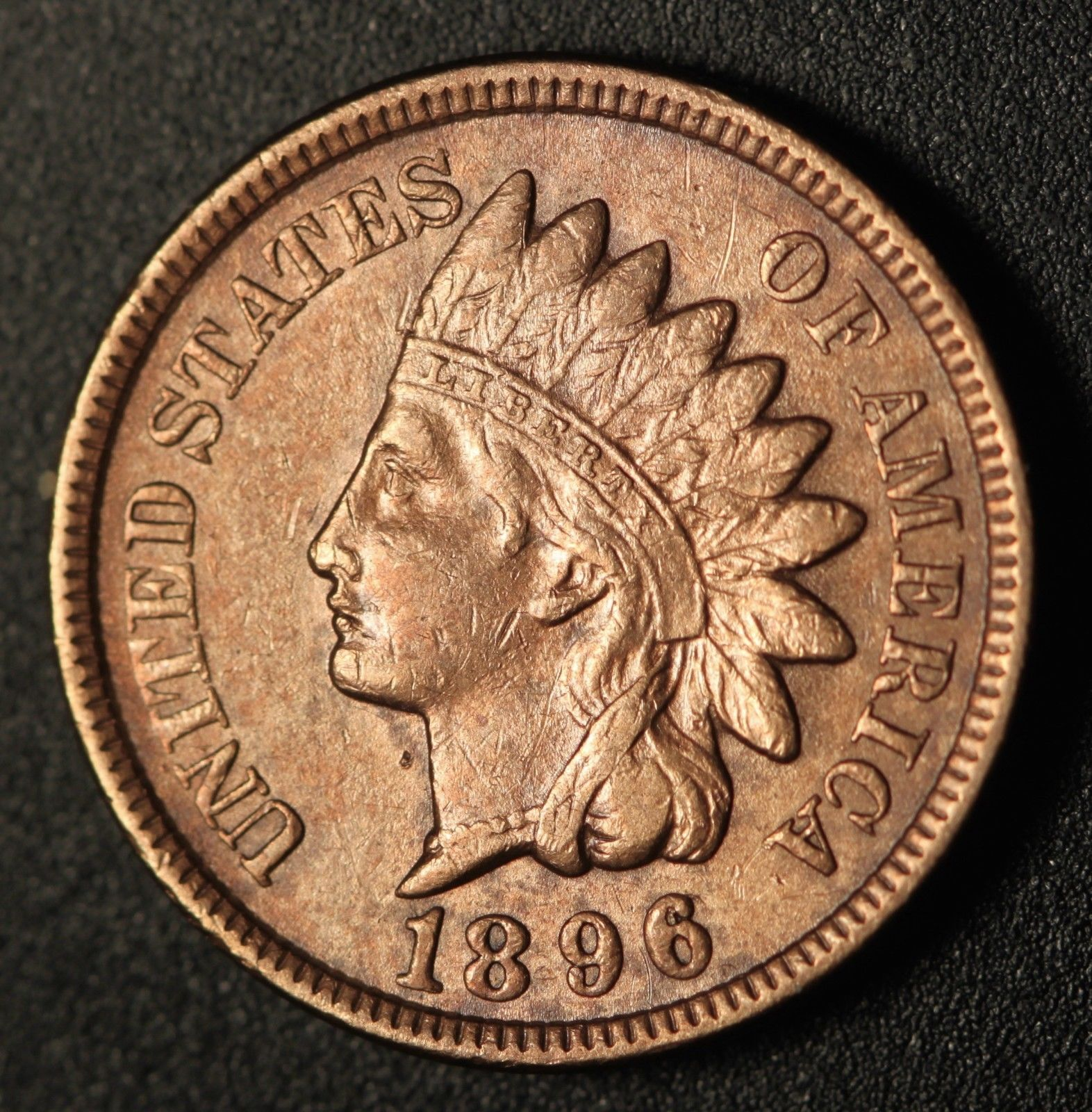1896 RPD-002 - Indian Head Penny - Photo by Ed Nathanson