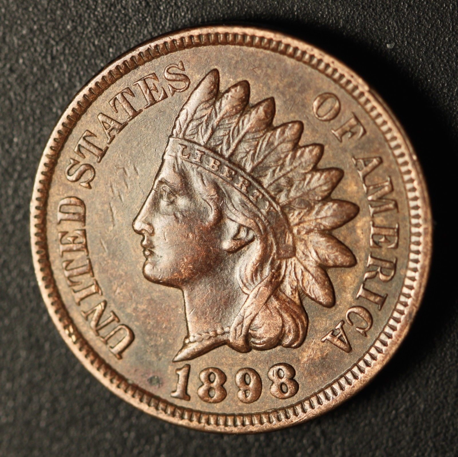 1898 MPD-004 - Indian Head Penny - Photo by Ed Nathanson