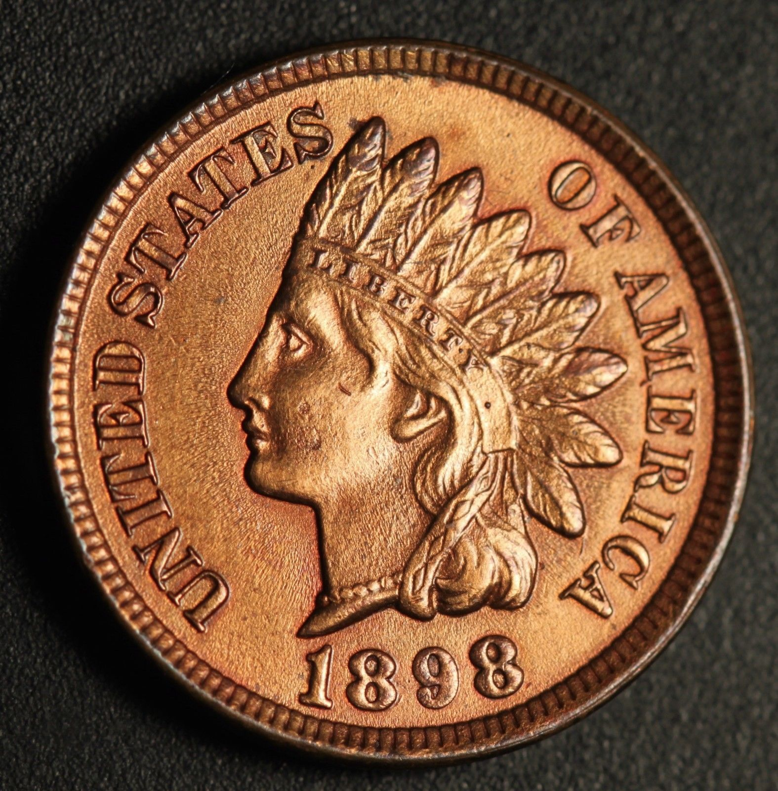 1898 RPD-011 - Indian Head Penny - Photo by Ed Nathanson