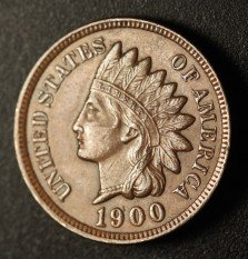 1900 RPD-010 Indian Head Penny - Photo by Ed Nathanson