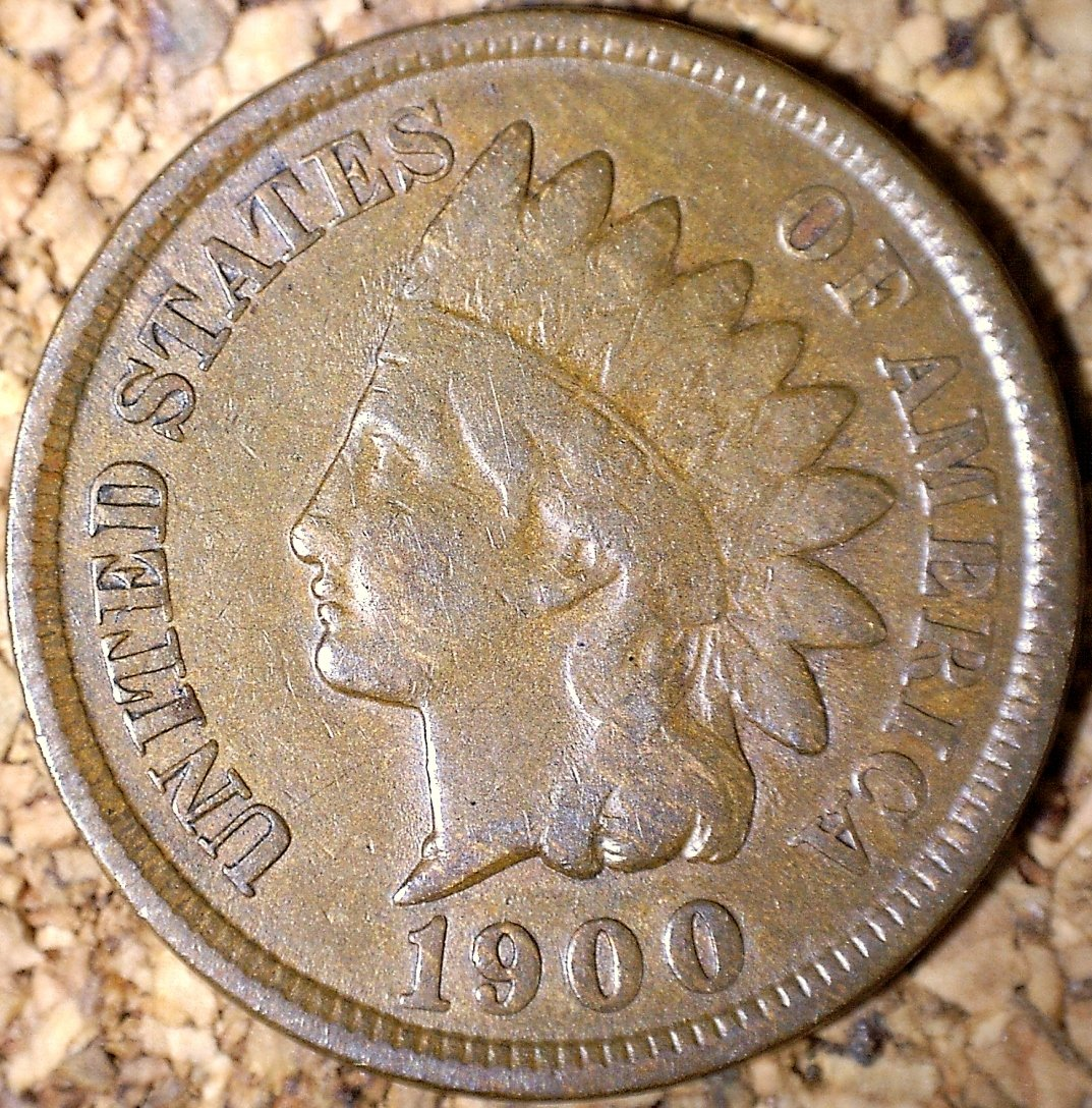1900 RPD-009 - Indian Head Penny - Photo by David Killough