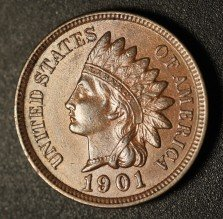 1901 RPD-002 - Indian Head Penny - Photo by Ed Nathanson