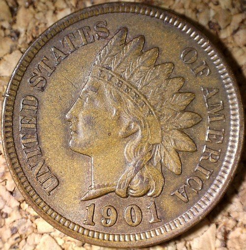 1901 RPD-012 - Indian Head Penny - Photo by David Killough