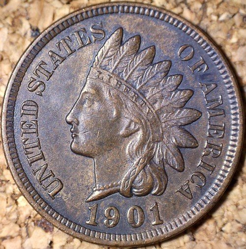 1901 RPD-004 - Indian Head Penny - Photo by David Killough
