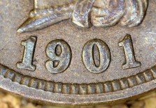 1901 RPD-006 - Indian Head Penny - Photo by David Killough