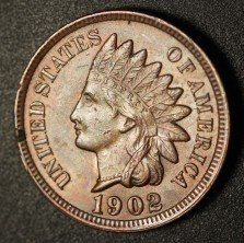1902 RPD-004 - Indian Head Penny - Photo by Ed Nathanson