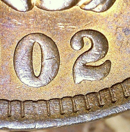 1902 MPD-005, RPD-009 - Indian Head Penny - Photo by David Killough