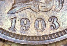 1903 RPD-008 - Indian Head Penny - Photo by David Killough