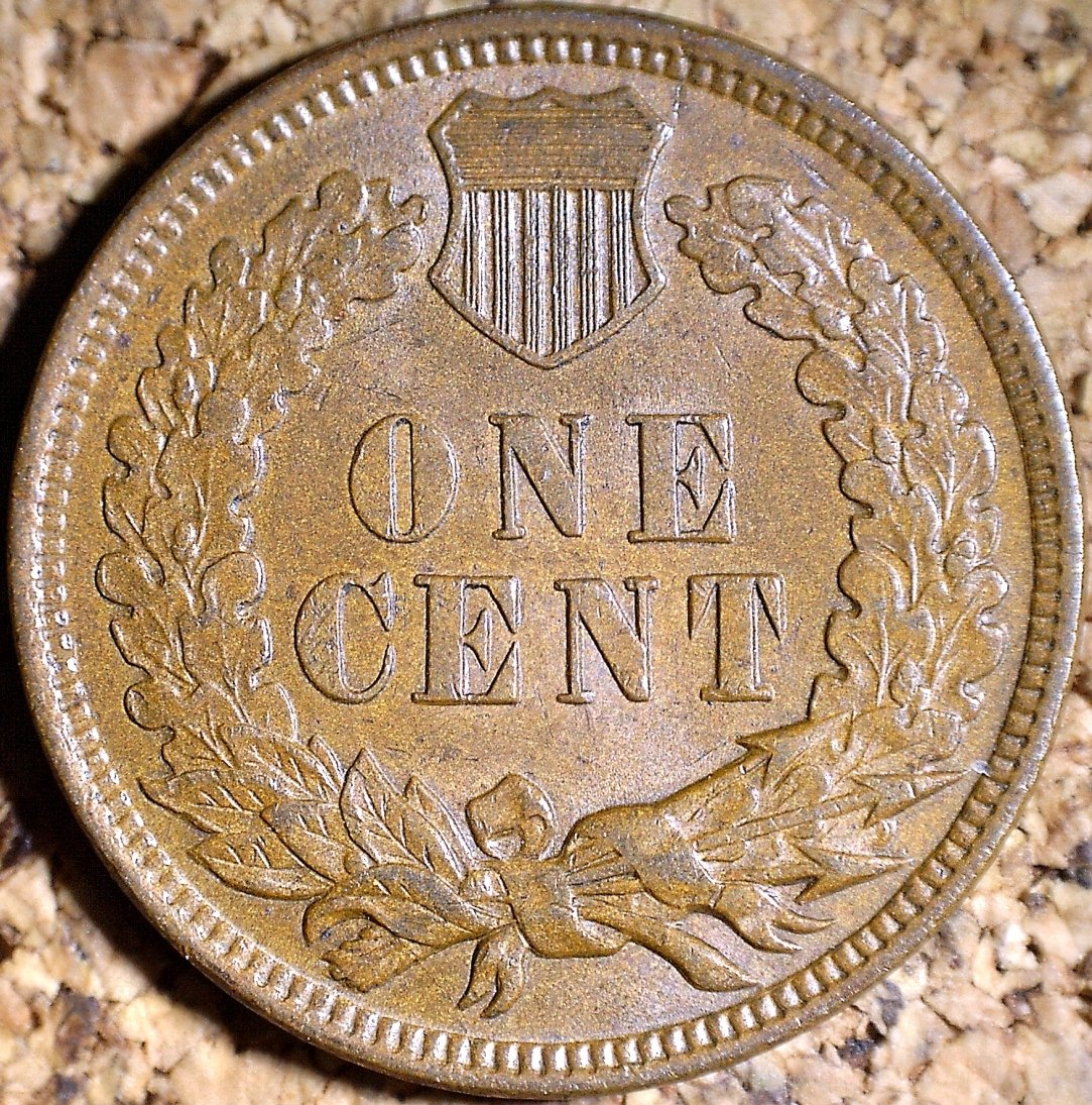 Reverse of 1904 MPD-004 - Indian Head Penny - Photo by David Killough