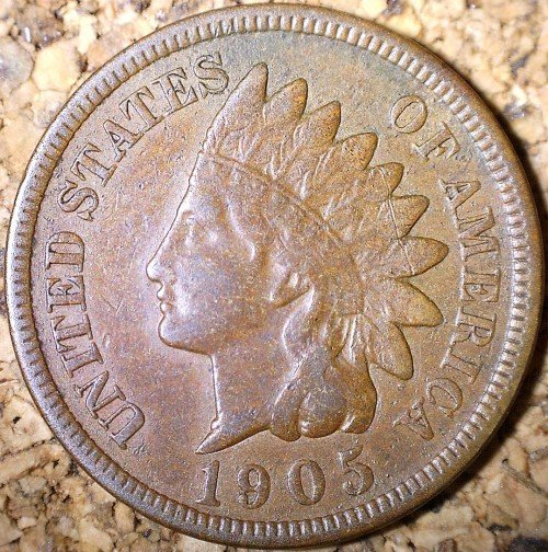 1905 MPD-010 - Indian Head Penny - Photo by David Killough