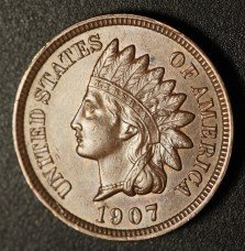 1907 RPD-012 - Indian Head Penny - Photo by Ed Nathanson