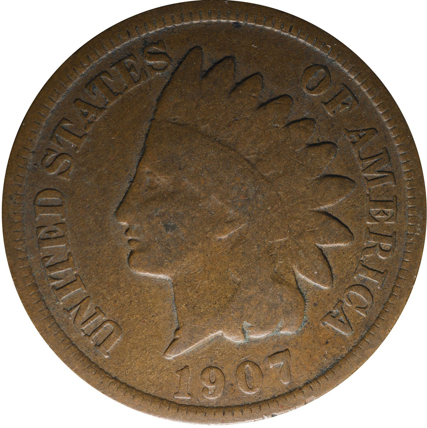 1907 RPD-036 Indian Head Penny - Photo by Kurt Story