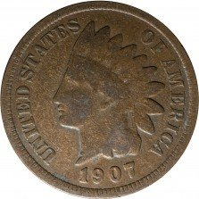 1907 MPD-013, RPD-025 Indian Head Penny - Photo by Kurt Story