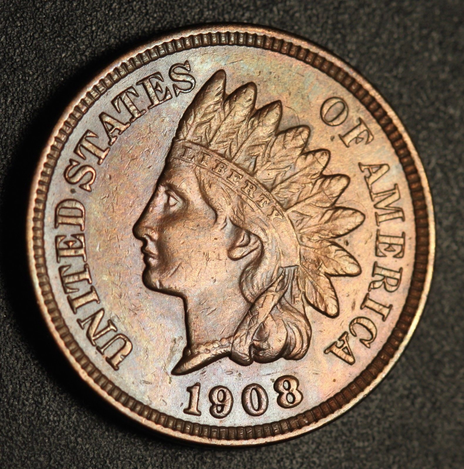 1908 MPD-006 - Indian Head Penny - Photo by Ed Nathanson