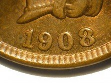 1908 RPD-007 - Indian Head Cent - Photo by David Poliquin