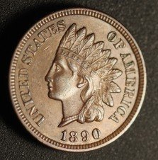 1890 RPD-009 - Indian Head Penny - Photo by Ed Nathanson