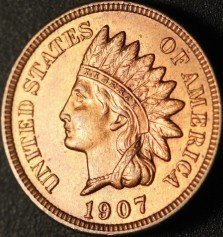 1907 RPD-007 - Indian Head Penny - Photo by Ed Nathanson