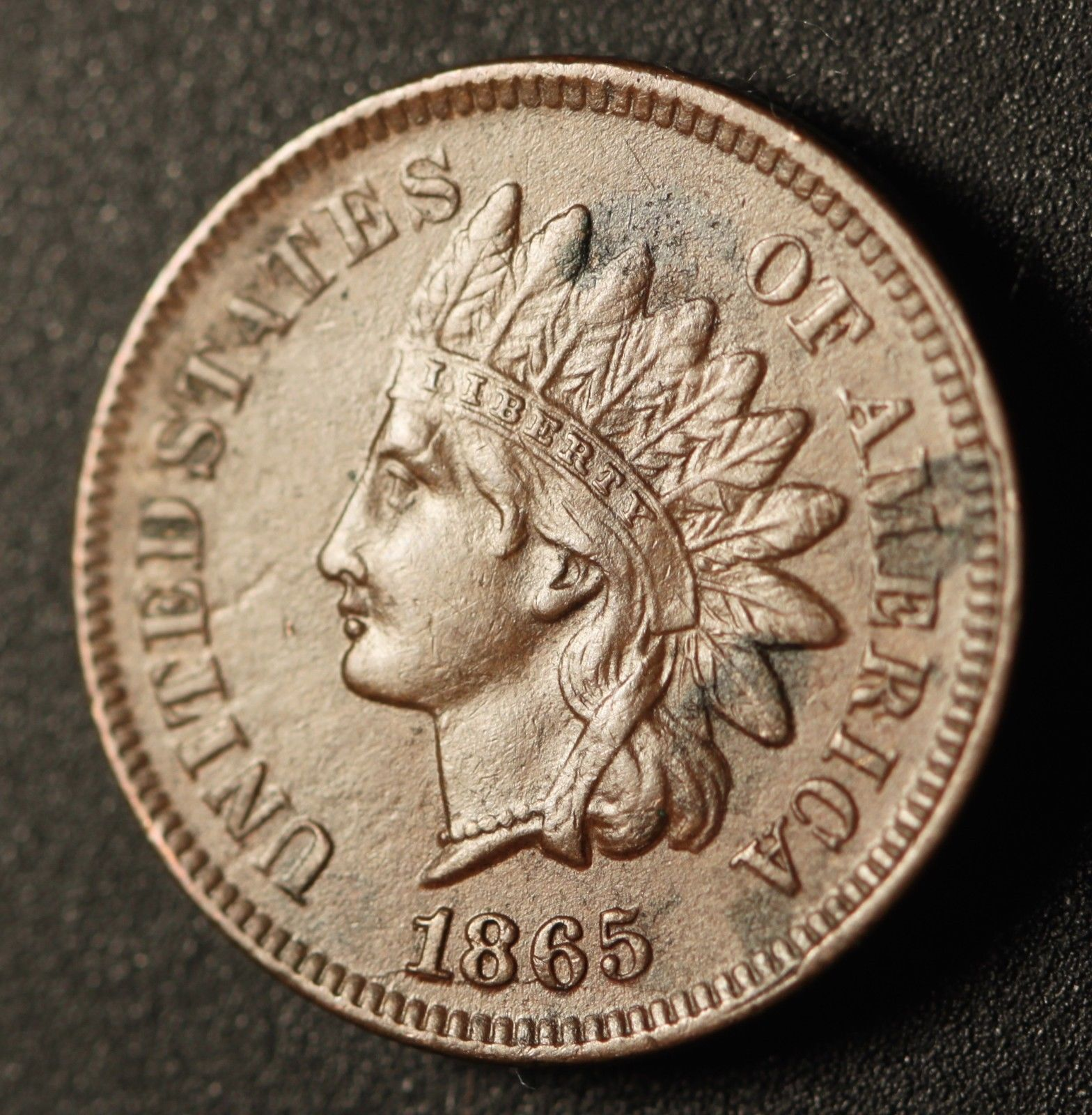 1865 Fancy 5 RPD-004 - Indian Head Penny - Ed Nathanson