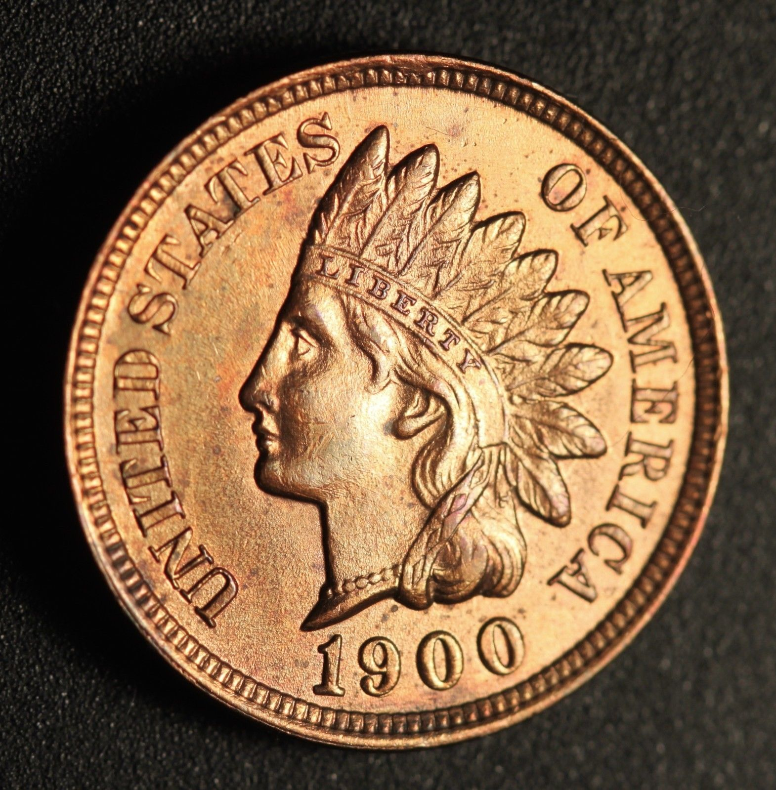 1900 RPD-025 - Indian Head Penny - Photo by Ed Nathanson