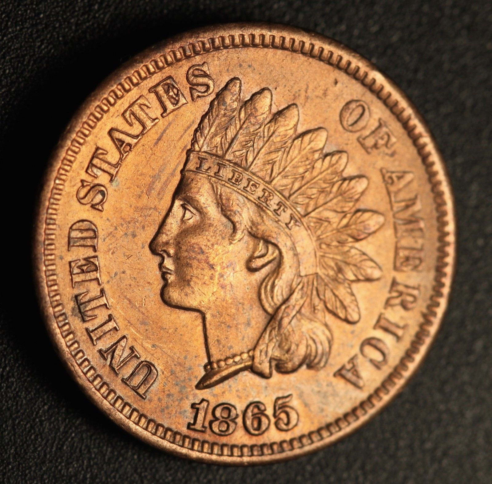 1865 Plain RPD-006 Indian Head Penny - Photo by Ed Nathanson