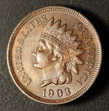 1903 RPD-007 - Indian Head Penny - Photo by Ed Nathanson