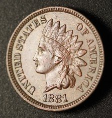 1881 RPD-002, PUN-001 - Indian Head Penny - Photo by Ed Nathanson