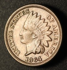 1864 CN No-L RPD-004 - Indian Head Penny - Photo by Ed Nathanson
