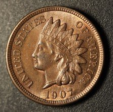 1907 RPD-014 Indian Head Penny - Photo by Ed Nathanson