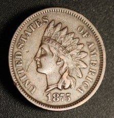 1875 ODD-001 Indian Head Penny - Photo by Ed Nathanson