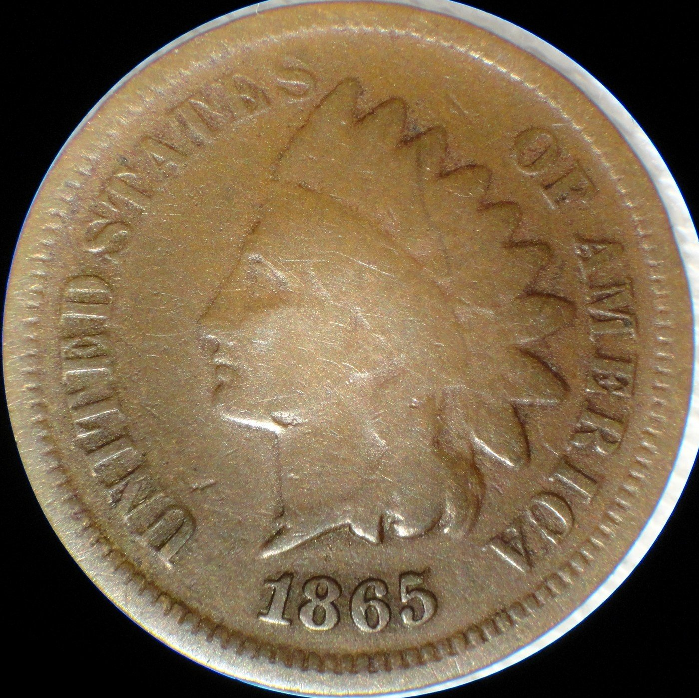 1865 Fancy RPD-001 - Indian Head Penny