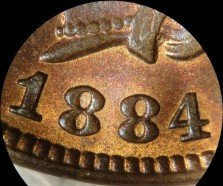1884 RPD-001 - Indian Head Penny