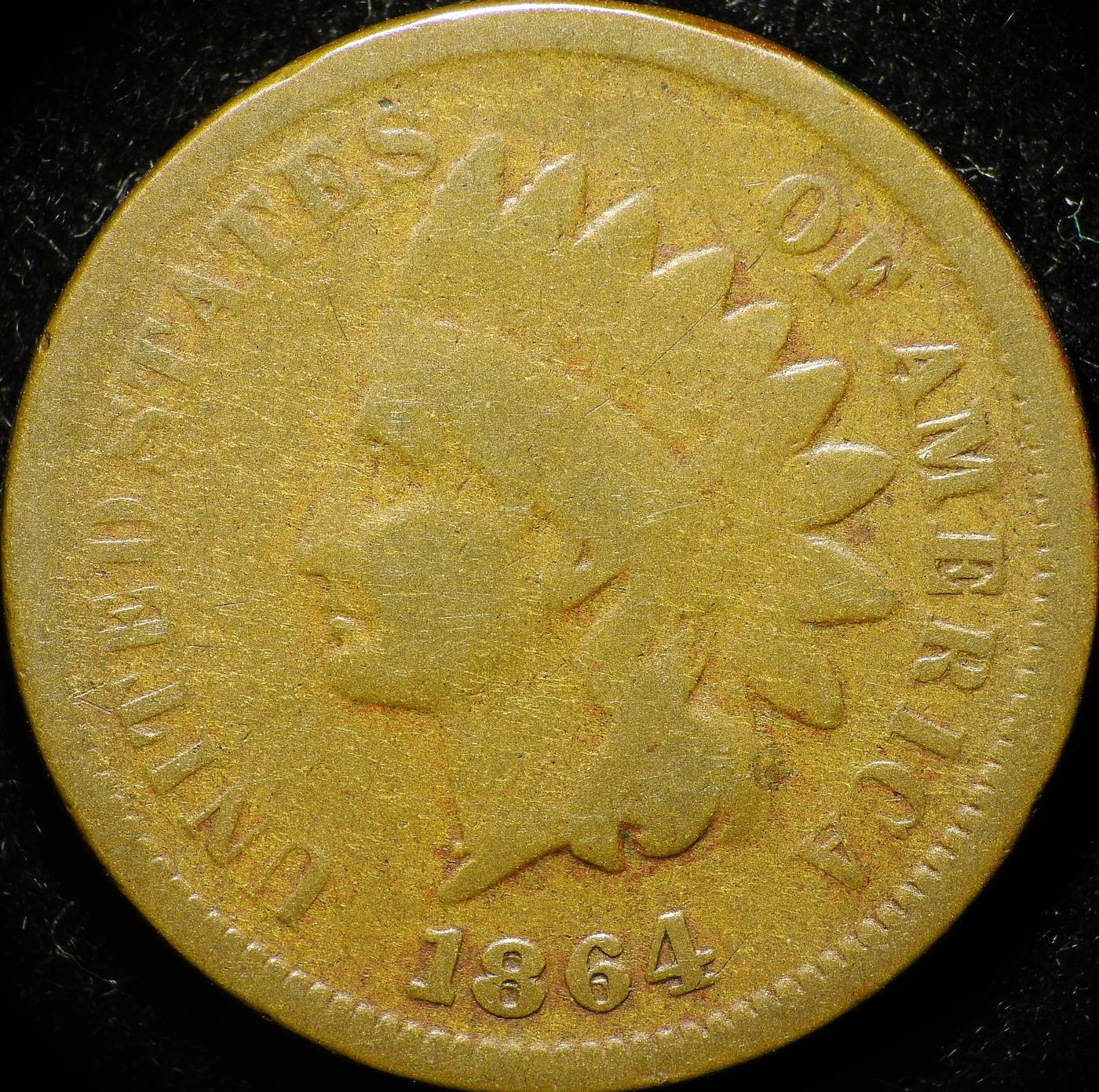 1864 L RPD-011 - Indian Head Penny