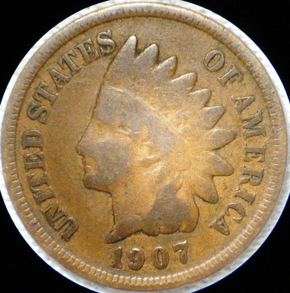 1907 MPD-013, RPD-025 Indian Head Penny