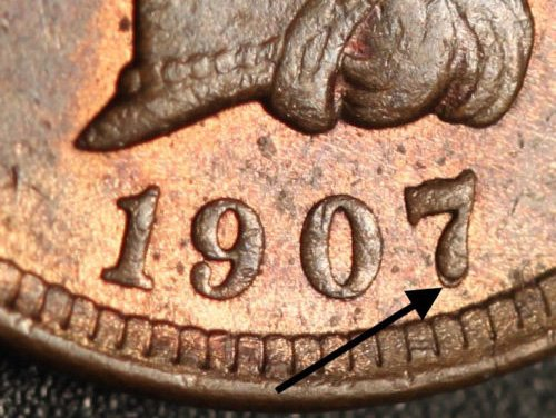 1907 RPD-046 - Indian Head Penny - Photo by Ed Nathanson